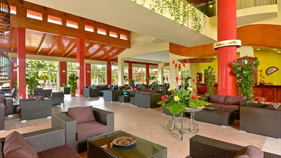Lobby and reception of the Iberostar Tainos hotel