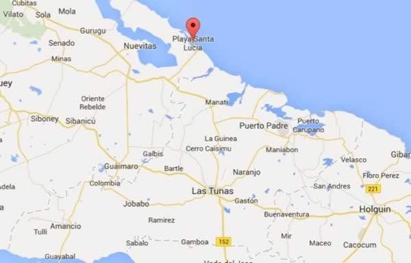 Water Sports,map, Santa lucia, Cuba