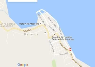 Restaurant Marco Polo, Baracoa, Cuba,map