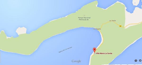 Maria la gorda, mapa,Pinar del rio, Cuba