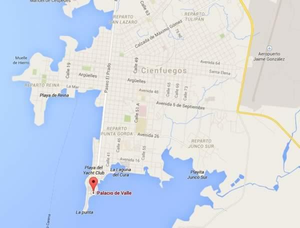 Palacio del Valle, Map, Cienfuegos, Cuba