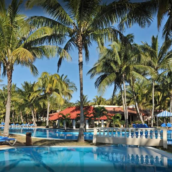 Pool view of the Sol Sirenas hotel
