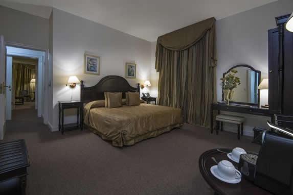 Habitación con piso alfombrado en el hotel