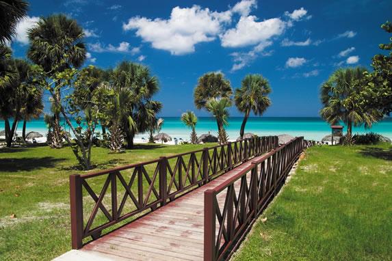 Bridge on the hotel beach