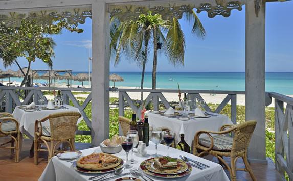 Mediterranean restaurant with sea views