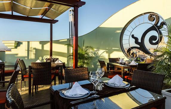 Hotel's mirador restaurant