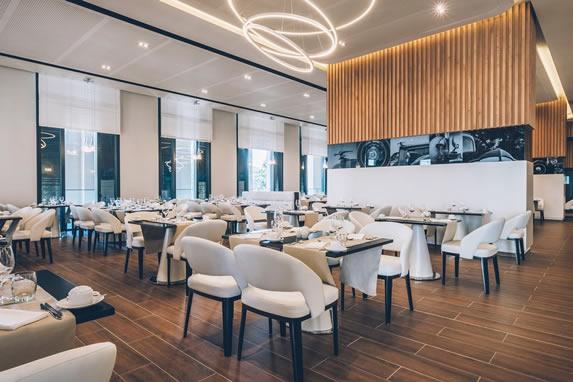 Restaurante buffet del hotel Packard