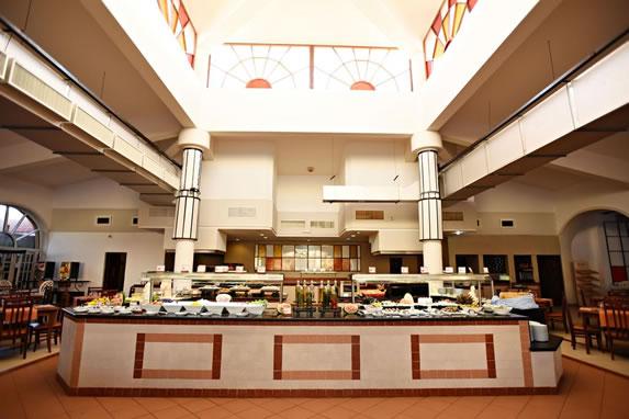 Vista restaurante del hotel Cuatro Palmas