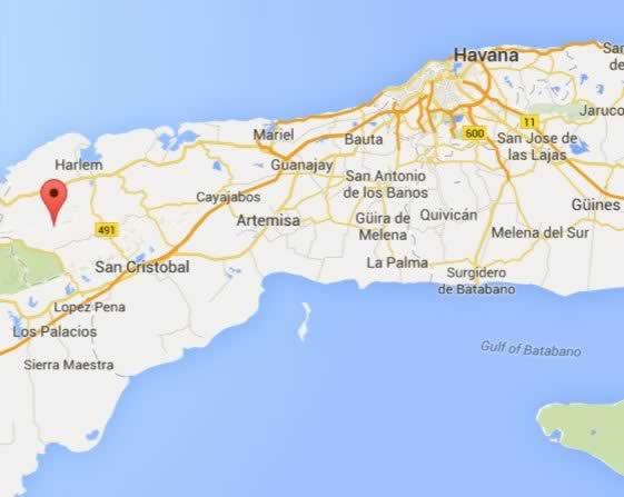Sierra del Rosario,map, Pinar del Río