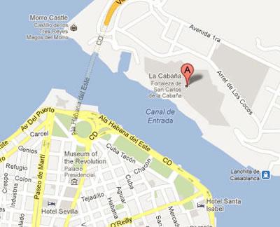 San Carlos de La Cabaña Fortress - Havana, Cuba.