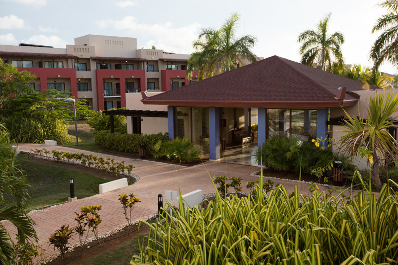 View of hotel entrance