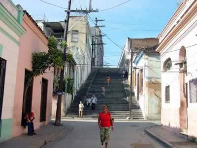 The emblematic Padre Pico street, Santiago de Cuba