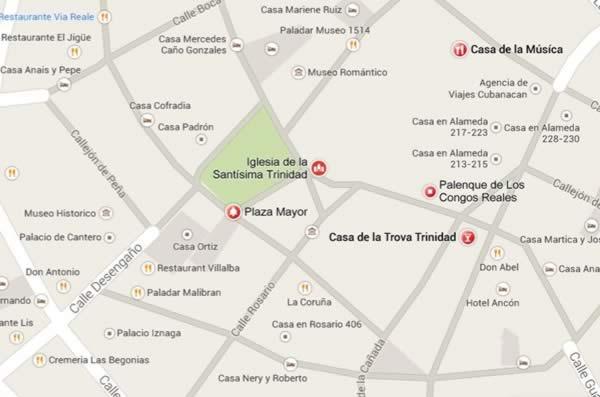 Parroquial Santisima Trinidad,mapa, Trinidad