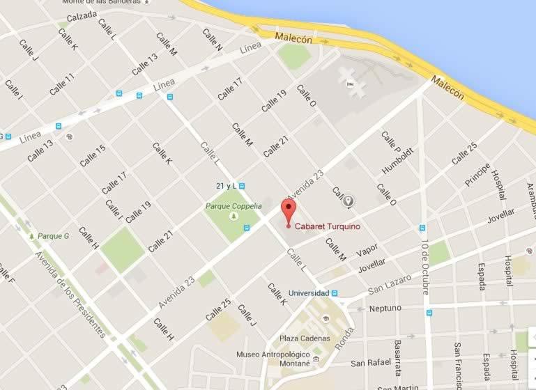 Cabaret Turquino, Habana, Cuba,mapa