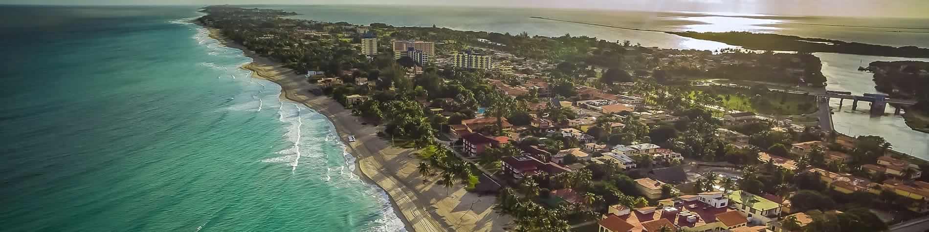 View of the varadero beach peninsula