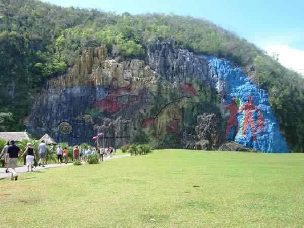 Mural de la prehistoria,Valle de Viñales,