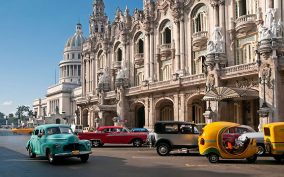 View of the great theater of Havana