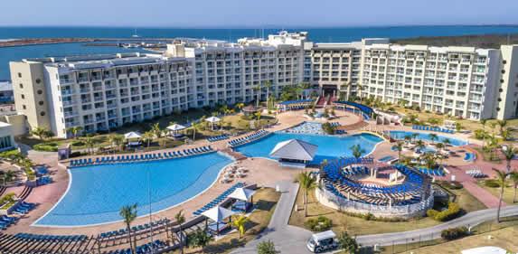 View of the Melia Marina hotel in Varadero