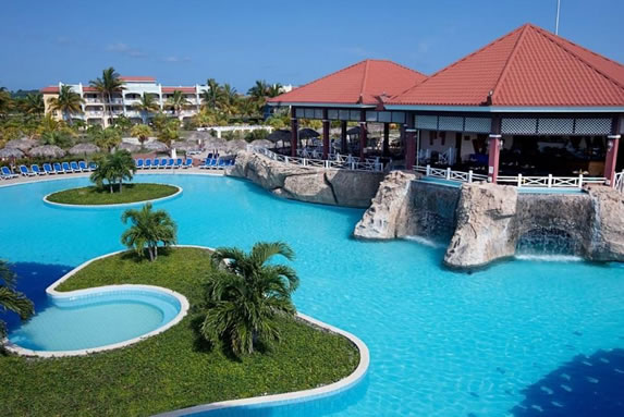 Aerial view of the hotel pool