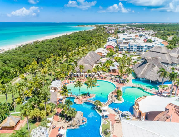 Aerial view of the Royalton Hicacos hotel