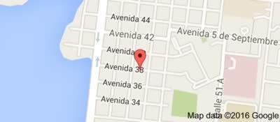 Restaurante Paladar Aché, Cienfuegos, Cuba,mapa