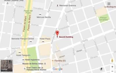 Edificio Bacardí, La Habana, Cuba,mapa