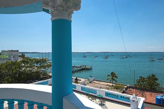 balcony overlooking the bay