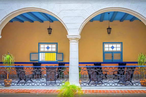 Balconies of the Santa Isabel hotel