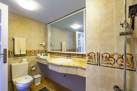 bathroom with mirror and shower