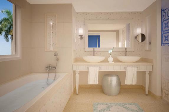 Baño de la habitación del hotel Angsana