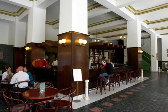 View of the hotel bar