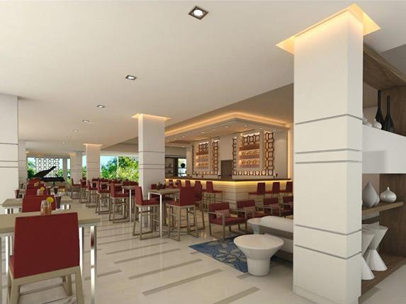 lobby bar with bar and stools