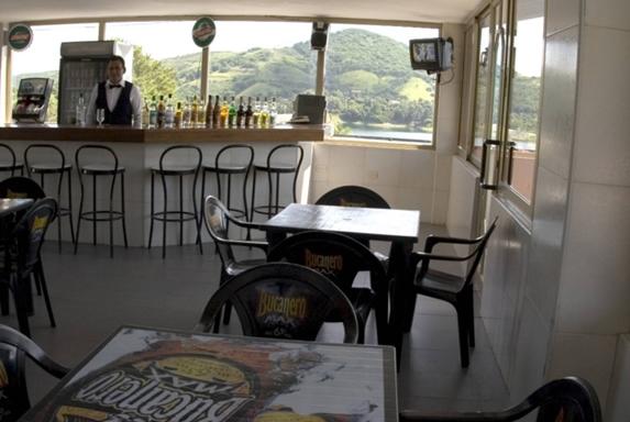 bar overlooking the lagoon