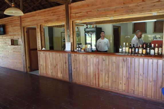 wooden hotel bar