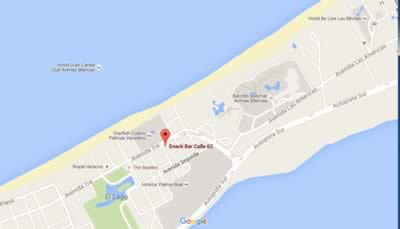 Bar Calle 62, Varadero, Cuba,mapa