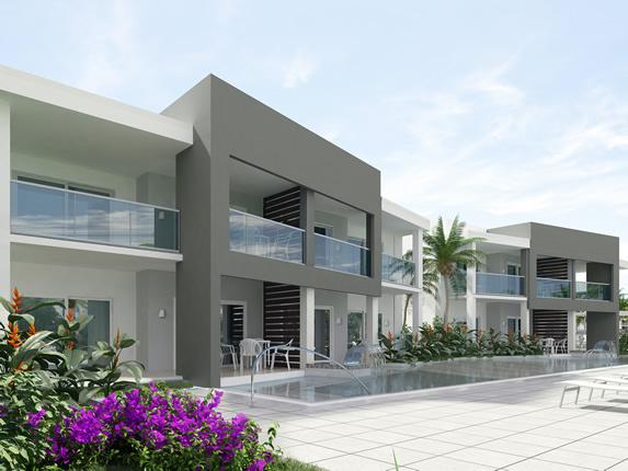 bungalow de dos pisos con piscina