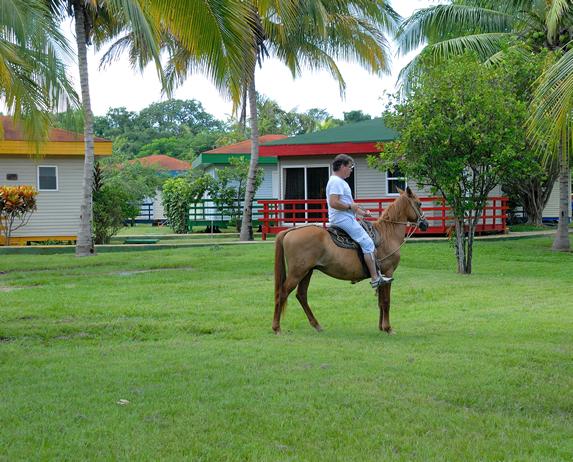 tourist riding a horse
