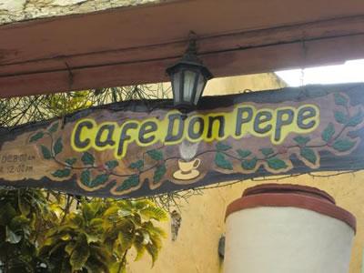 Don Pepé café Restaurant,Trinidad, Cuba