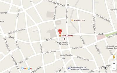 Restaurant Café Ciudad, Camaguey, Cuba,map