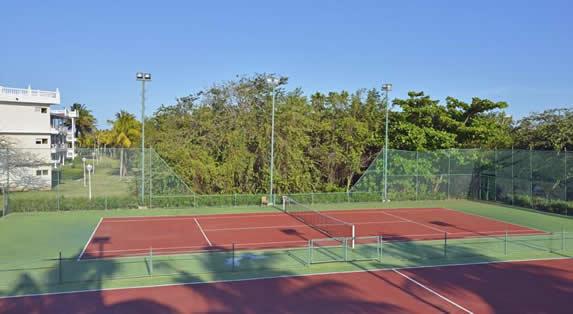 canchas de tenis rodeadas de vegetación