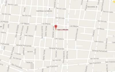 Restaurante Casa de Micaela, Sgo de Cuba,mapa