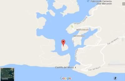 Cayo Granma,Santiago de Cuba,map