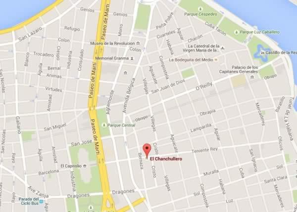 Restaurante El Chanchullero de tapas,La Habana,map