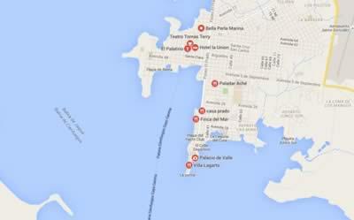 Restaurant Palacio del Valle, Cienfuegos, map