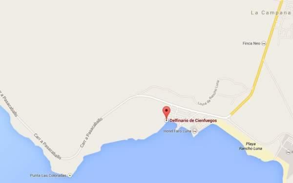 Dolphinarium,map,Cienfuegos, Cuba