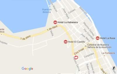 Restaurant El Buen Sabor, Baracoa, Cuba,map