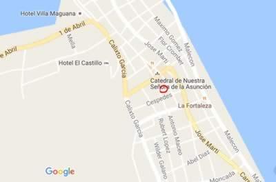 Restaurante El Poeta, Baracoa, Cuba,mapa