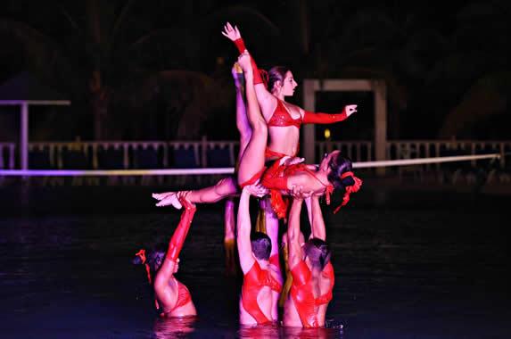 evening water ballet show