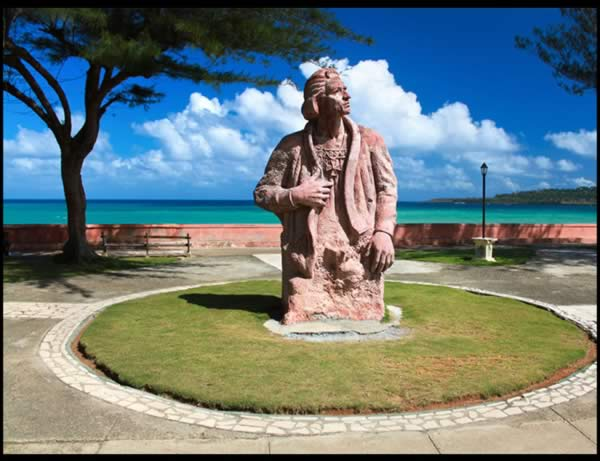 Cristobal Colon statue, Baracoa, Cuba