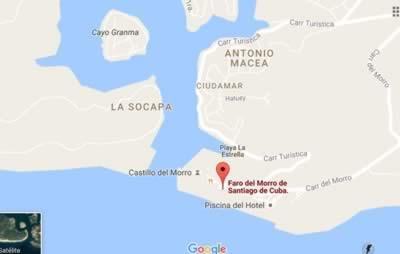 Faro del Morro, Santiago de Cuba, Cuba,map